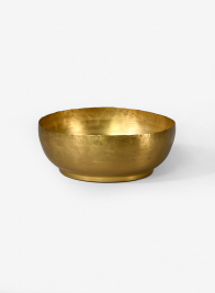 7 1/2in Antique Raw Brass Bowl