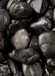 High Polished Black River Stones