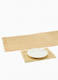 natural raffia table runner and placemat
