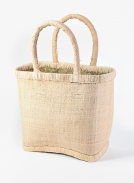 Natural Raffia Bag with Natural Border