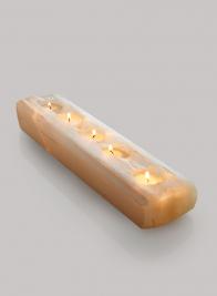 Moroccan Selenite Log For 5 Tea Lights