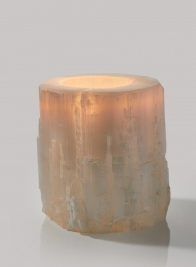 5in x 5in Moroccan Selenite Trunk Votive