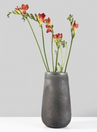 5in x 9in Slate Frost Glass Vase