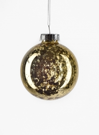 3in Gold Mercury Glass Plastic Ornament Ball, Set of 12