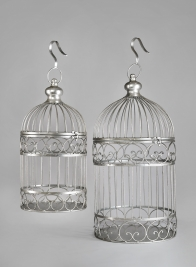 18in & 23in Silver Birdcages