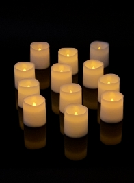 LED Votive Candles, Set of 12