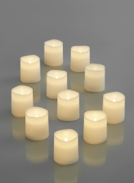 Warm White LED Votive Candle, Set of 12