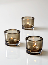 smoke glass tealight holder party wedding decor