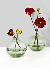 Light Green Ball Bud Vase, Set of 2