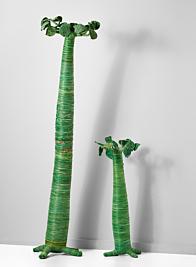 green raffia madagascar baobab tree