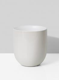 Crackled White Ceramic Vase, 5 1/2in
