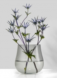 Cool Grey Glass Planter Vase