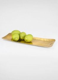 16 1/2in Rectangular Raw Brass Tray