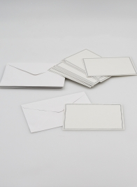 White Bouquet Card with Envelope, Set of 12