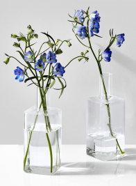Square Bottle Bud Vase, Set of 2