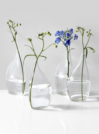 6 1/2in Flat Bottle Vase, Set of 4