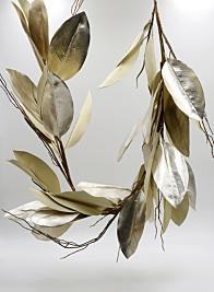 47in Gold Magnolia Leaf Garland