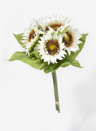 White Sunflower Bouquet