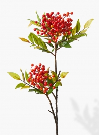 36in Orange & Red Berry Branch