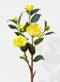 yellow rose spray silk flowers