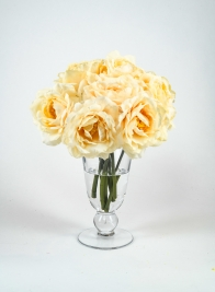 10in Pale Peach Tea Flower Bouquet