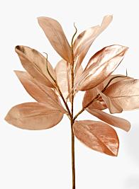 Rose Gold Magnolia Leaf Pick