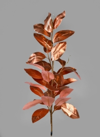 33in Rose Gold Magnolia Leaf Vine