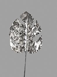 35in Platinum  Monstera Leaf
