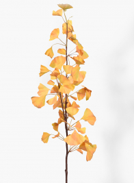 41in Orange Gingko Leaf Spray