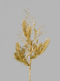 27in Gold Pine & Twig Spray