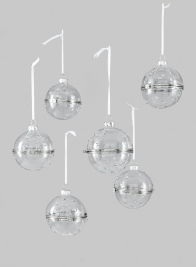 Diamond Bead Treasure Ball Ornament, Set of 6