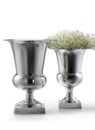 Polished Aluminum Urns