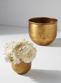 4in & 6in Antique Brass Vases