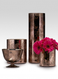 4 1/2in Antique Brown Cylinder Vase