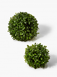 artificial fake boxwood balls wedding event decor