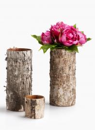 3in & 10in Birch Bark Glass Vase