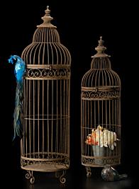 35in & 42in Rust Birdcages