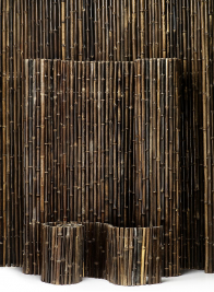 Inside-Wired Black Bamboo Fences