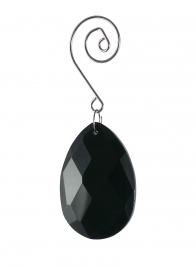 black crystal teardrop ornament JB006BK