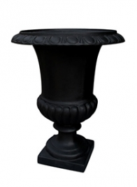 black fiberglass urn MC1CBK
