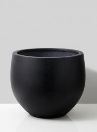 20in Black Ficonstone Round Pot