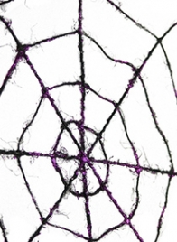 black halloween spider web decor RJ5K26583