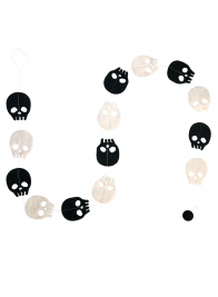 black white skull garland halloween party decor