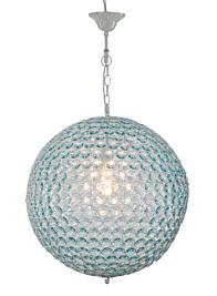 blue crystal ball ceiling light fixture