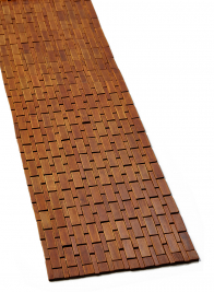 brown bamboo wood tiles modern table runner