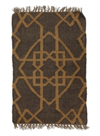 3ft & 6ft Brown & Gold Moor Wool & Jute Rugs