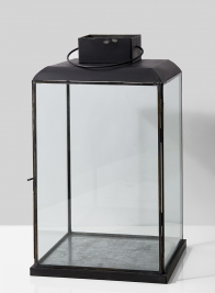 18in Burnt Antique Large Square Lantern