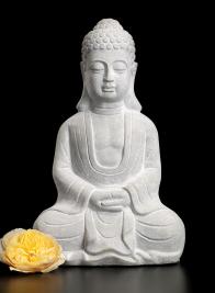 13 1/2in Cement Buddha