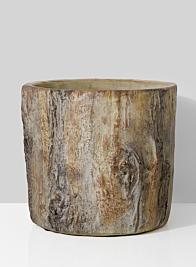 cement wood stump bowl