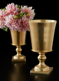 Gold Pedestal Urns